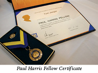 rotary paul harris award
